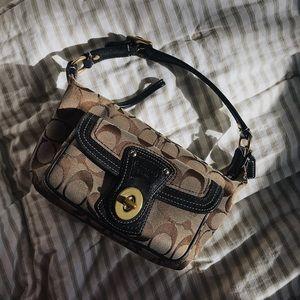 vintage classic brown coach purse